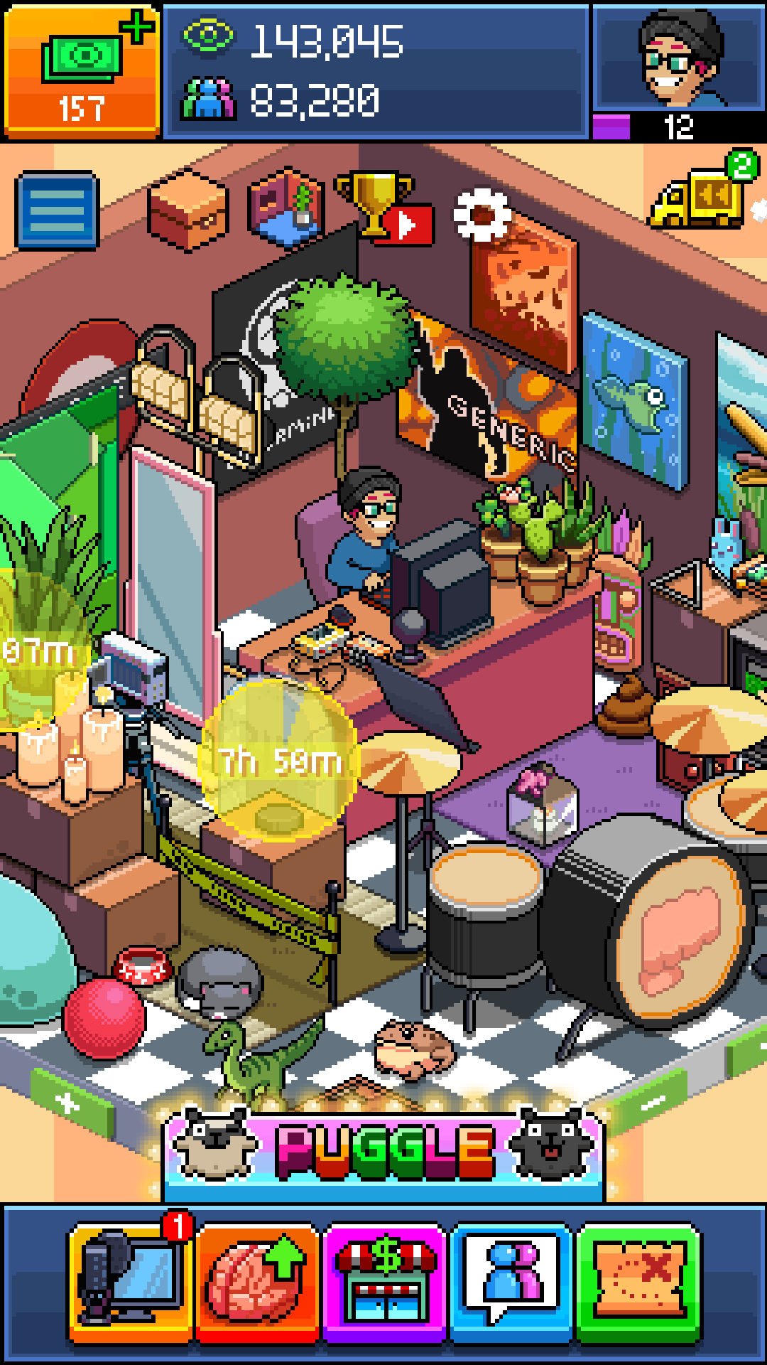 Pewdiepie tuber simulator (mod, unlimited money) 1. 12. 1 apk youtube.