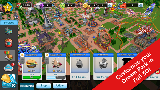 RollerCoaster Tycoon Touch MOD APK Download DroidApk.org (2)
